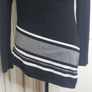 VENUS Sweaters - Venus asymmetrical black sweater